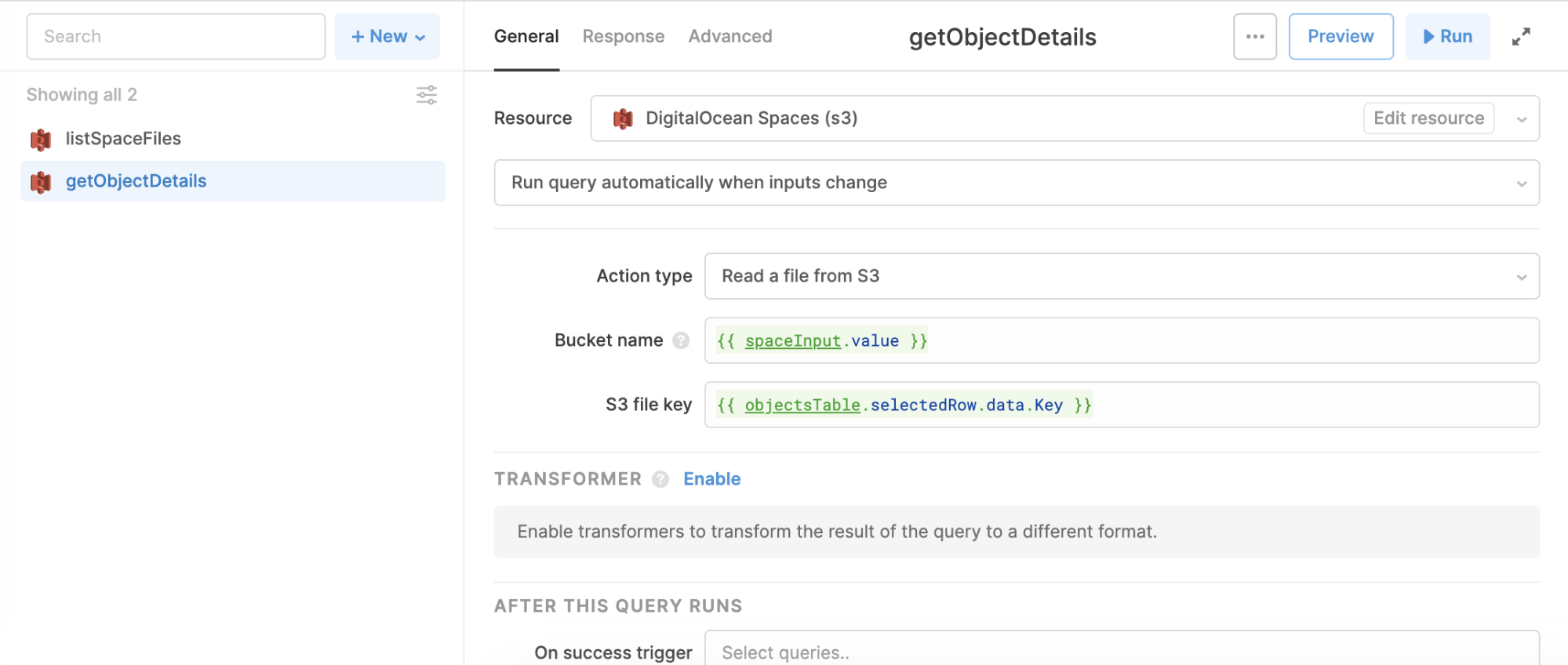 get object details query