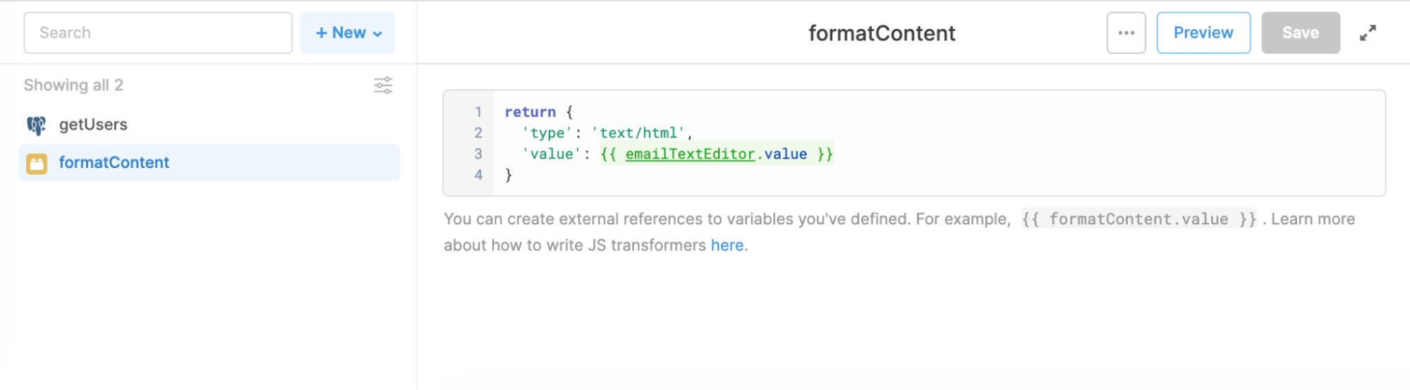 formatcontent transformer